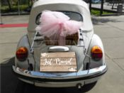 Wedding Just Married Car  -  Metal Wall Sign